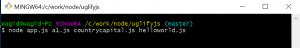 Run Uglify Js Application